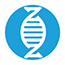 Genetic test icon blue